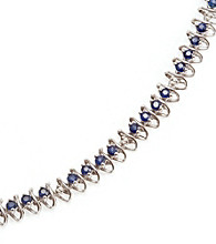 2.0 ct. t.w. Sapphire Sterling Silver & Diamond Accent Bracelet