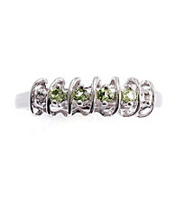 .20 ct. t.w. Peridot Sterling Silver & Diamond Accent Ring