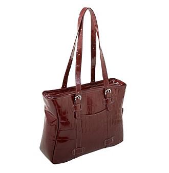 Siamod Emanuele Ladies' Leather Laptop Tote