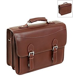 Siamod Belvedere Leather Double Compartment Laptop Case