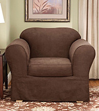 Sure Fit® Suede Supreme Chair Separate Seat Slipcover