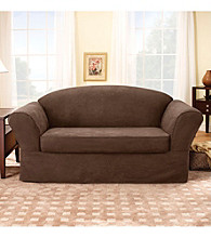 Sure Fit® Suede Supreme Sofa & Loveseat Separate Seat Slipcovers