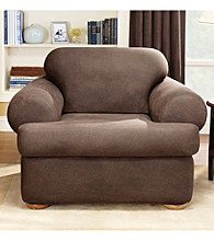 Sure Fit® Stretch Faux Leather Chair Separate Seat T-Cushion Slipcover