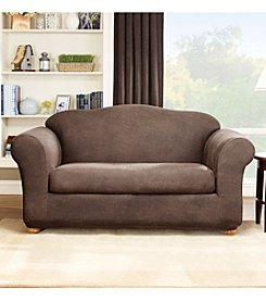 Sure Fit® Stretch Faux Leather Sofa & Loveseat Separate Seat Slipcovers