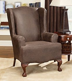 Sure Fit® Stretch Faux Leather 1-pc. Wing Chair Slipcover