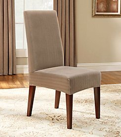 Sure Fit® Stretch Pinstripe Dining Room Chair Slipcover - Short
