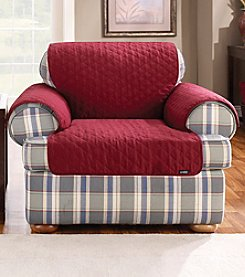 Sure Fit® Quilted Cotton Duck Pet Furniture Cover - Chair