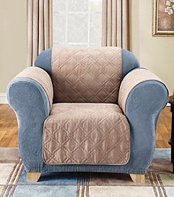 Sure Fit® Quilted Soft Suede Pet Furniture Cover - Chair