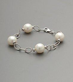 Sterling Silver White Shell Pearl Bracelet