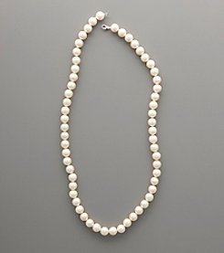Sterling Silver White Shell Pearl Strand Necklace