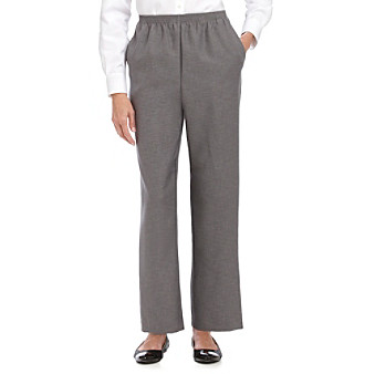 Alfred Dunner® Petites' Pull-on Flat-front Pants