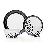 Mikasa® Circle Chic Black 4-pc. Place Setting
