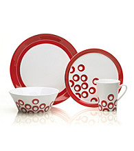 Mikasa® Circle Chic Red 4-pc. Place Setting