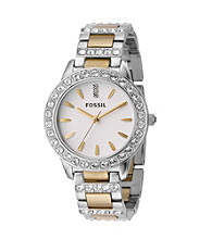 Fossil® Women's Jesse Two-Tone Crystal Watch