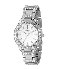 Fossil®Women's Stainless Steel Crystal Watch - Silver