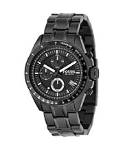 Fossil® Men's Decker Chronograph Watch - Black