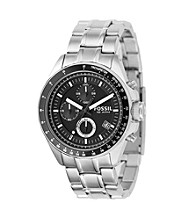 Fossil® Men's Decker Stainless Steel Chronograph Watch - Silver