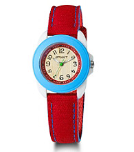 Sprout® Eco-Friendly Mid-Size Watch - Blue/Red