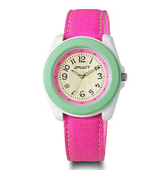 Sprout® Eco-Friendly Large-Size Watch - Green/Pink