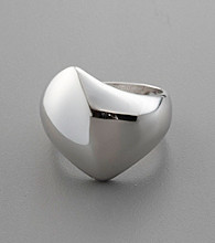 Asymmetrical Domed Sterling Silver Ring