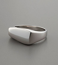 Asymmetrical Sterling Silver Ring