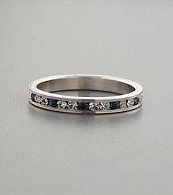 Cubic Zirconia & Sapphire Swarovski® Crystal Ring