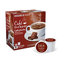 Café Escapes® Café Mocha Specialty Coffee 16-pk. K-Cup® Portion Pack