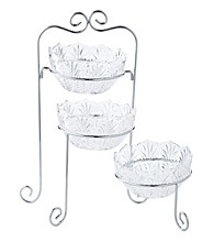 Fifth Avenue Crystal Ltd.® Portico 3-Piece Bowl Buffet Server