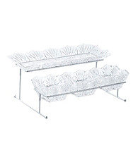 Fifth Avenue Crystal Ltd.® Portico 4-Piece Buffet Server with Stand