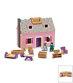 Melissa & Doug® Fold and Go Dollhouse with Carrying Handle