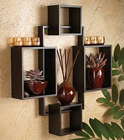 The Pomeroy Collection Tawny Wall Shelf