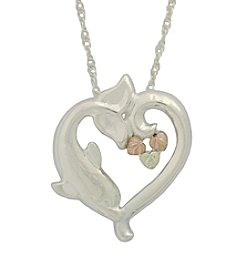 Black Hills Gold Sterling Silver Dolphin Pendant