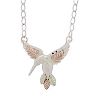 Black Hills Gold Sterling Silver Hummingbird Necklace