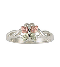 Black Hills Gold Sterling Silver and Gold Butterfly Ring
