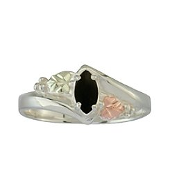 Black Hills Gold Sterling Silver & Gold, Pink Cubic Zirconia Ring
