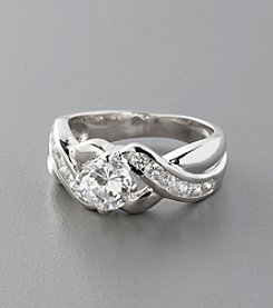Sterling Silver and Cubic Zirconia Ring - Clear