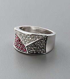 Sterling Silver and Crystal Band Ring