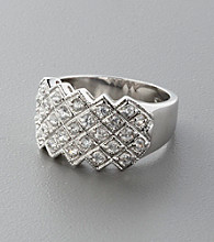 Sterling Silver Multi-Stone Cubic Zirconia Ring