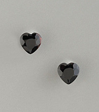 Betsey Johnson® Jet Black Heart-Shaped Stud Earrings