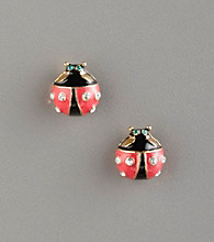 Betsey Johnson® Ladybug Stud Earrings - Red/Black