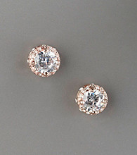 Betsey Johnson® Crystal Encrusted Stud Earrings - Goldtone/Clear