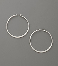Betsey Johnson® Antiqued Silvertone Hoop Earrings