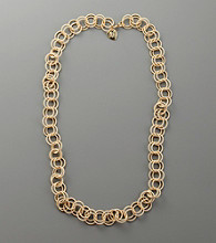 Betsey Johnson® Long Circular Chain Necklace - Goldtone
