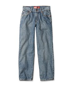 Levi's® 550™ 8-20 plus Husky Relaxed Denim Blue Jeans for Boys - Clean Crosshatch