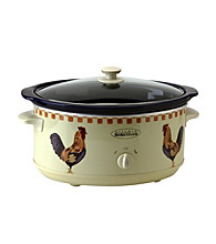 Kitchen Selectives® 6.5-qt. Rooster Pattern Slow Cooker