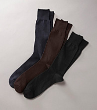 Kenneth Roberts Platinum® Men's Pima Cotton Flat Rib Socks