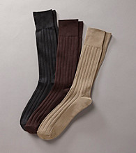 Kenneth Roberts Platinum® Microfiber Wide Rib Socks
