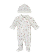 Little Me Baby Girls' Vintage Rose Footie - Pink