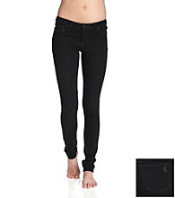 Jessica Simpson Kiss Me Jean Leggings - Black Enzyme Rinse