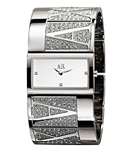 A|X Armani Exchange Women's Glitz Cuff Logo Watch